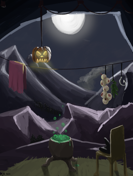 The Witch's cave by Mythilas