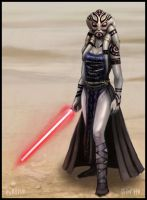 Nautolan Sith Lord by inkfish