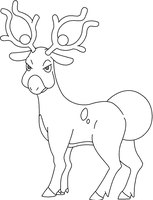 Stantler Lineart [No Shading] by kasanelover
