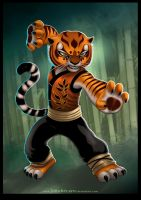 MASTER TIGRESS of KungFu Panda by johnbecaro