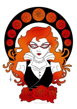 Stretch Goal reached  - A6 Red Rose Print by BaGgY666