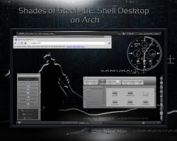 Shades of Steel - BE::Shell desktop on Arch by rvc-2011