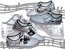 Commission- Luxury Music Shoes by lobosolo