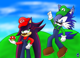 Super Maria Bros and James by Xx-LordVincent-xX
