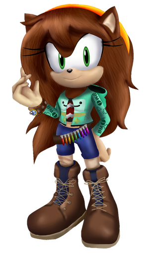 Andrea The hedgehog In 3D by andreaplayed12