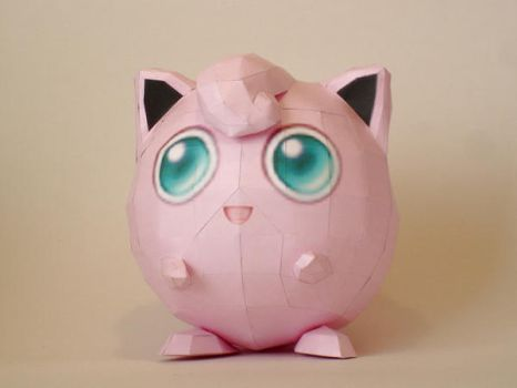 Jigglypuff Papercraft by Skele-kitty