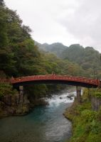 Shinkyo Bridge in Nikko 2 by SuperPope
