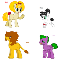 Themed adoptables 85-88 by BronyBase