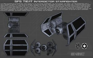 TIE/IT Interdictor starfighter ortho [New] by unusualsuspex