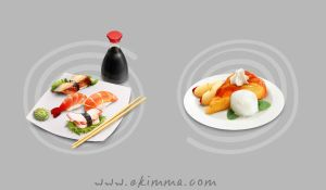 Sushi and apple pie by Ekimma