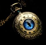 Blue Water Dragon - Nobility's Time Pocket Watch by LadyPirotessa