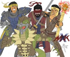 MKX Group Pic Commission by ArwingPilot114