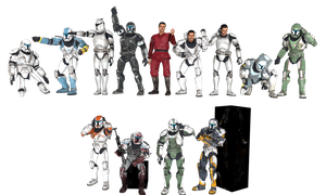 'Star Wars: Republic Commando'' Clone pack XPS!!! by lezisell