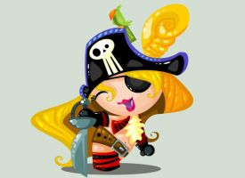 Pirate Girl by vancamelot