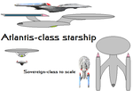 Atlantis-class starship design by PeachLover94