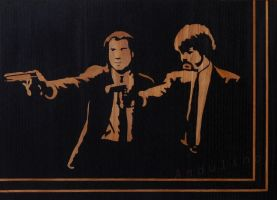 Pulp Fiction marquetry by Andulino