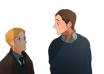 young Steve and Bucky by donquibug