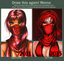 Draw this Again - Skarlet from Mortal Kombat 9 by Shiranui94