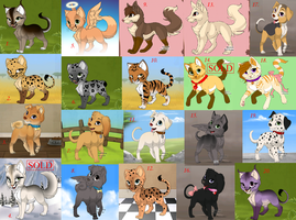 FREE Pack of Adoptables! (2/20) by Skylar-Wolf