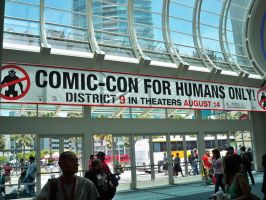 Comic-Con For Humans Only by OneRadicalDude