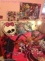 Monster High bedroom by DarkRoseDiamond123