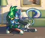 Heeey, I'm beating the boss here! by V-Mordecai