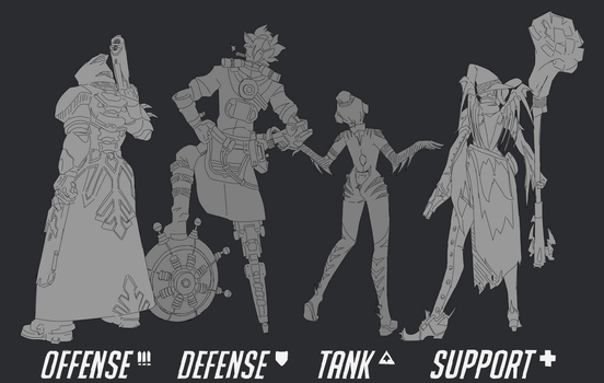 OW Mains - WIP by Fayolinn