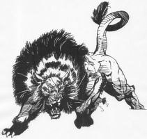 Eclipso Possessed Lion Walking by Stonegate