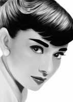 Portrait: Audrey Hepburn by MarinaSchiffer