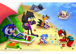 .:At the beach collab:. by Feneksia-Creations