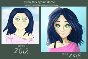 Draw This Again! Meme - Blue Wind by ChloeMiles
