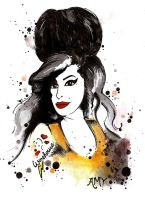 Amy Winehouse by DeftLeftHand