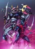 Dengeki Ryouji and Nightcrawler Colors by MARCIOABREU7