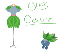 Pokedresses - 043 - Oddish by AK-Manga