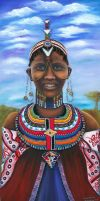 African lady 4 Masai The bride by SamanthaJordaan