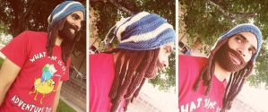 Rasta Inspired Knit Hat by kateknitsalot