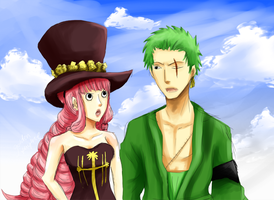 Zoro and Perona by goldenthyme