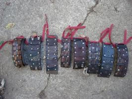 Primordial leather cuffs by missmonster