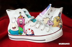 Adventure time shoes by Boorza