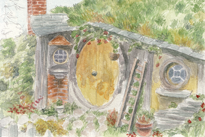 hobbit hole by wolfKardia