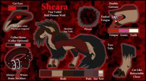 -:Fursona Ref Sheet-Sheara:- by XxShearStrikexX