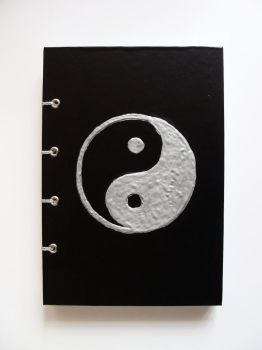 Notebook with Yin-Yang by NinelivescatArt