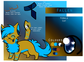 Fallen Reference Sheet by campfyre