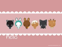Hello Wallpaper by Keito-San