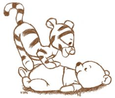::: Tigger + Pooh ::: by k8angel