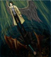Castiel and Crowley by naydshiko
