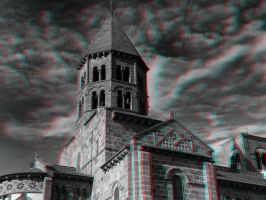 Puy-De-Dome Church 3-D conversion by MVRamsey