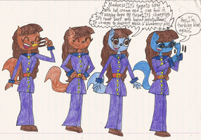 Violet Beauregarde the Cat's Blueberry Inflation 1 by Magic-Kristina-KW