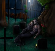 Commission for Ripperblackstaff - Graveyard by FuriarossaAndMimma