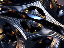 Metallic Shapes XVII by mario837
